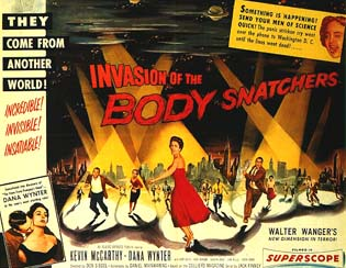 50s horror movie Invasion of the Body Snatchers