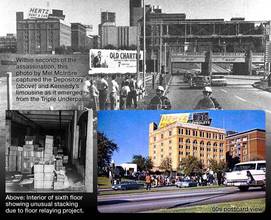 The Dealey Plaza area in the aftermath of the assassination