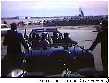 Frame from Dave Powers Film